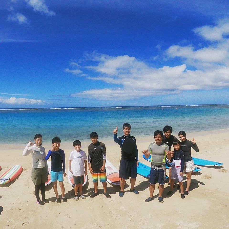 夏休みはみんなでサーフィンデビュー!