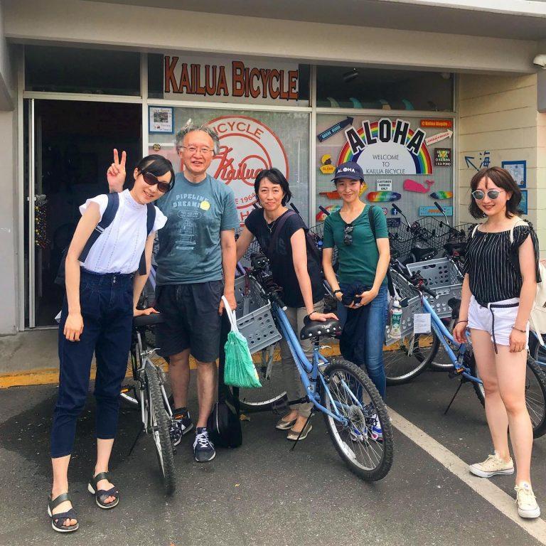 Kailua town でサイクリング!