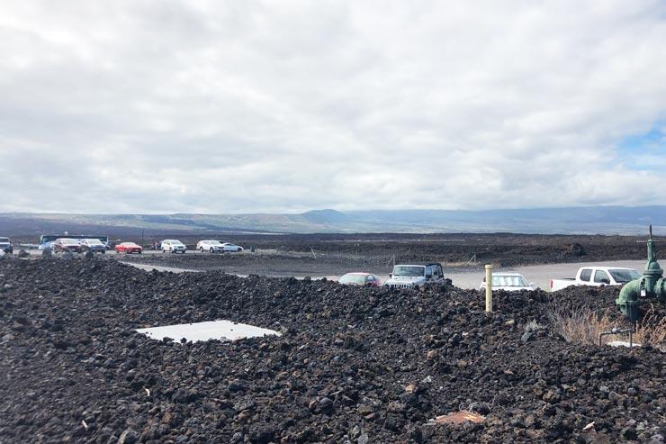 ハワイ島の溶岩大地