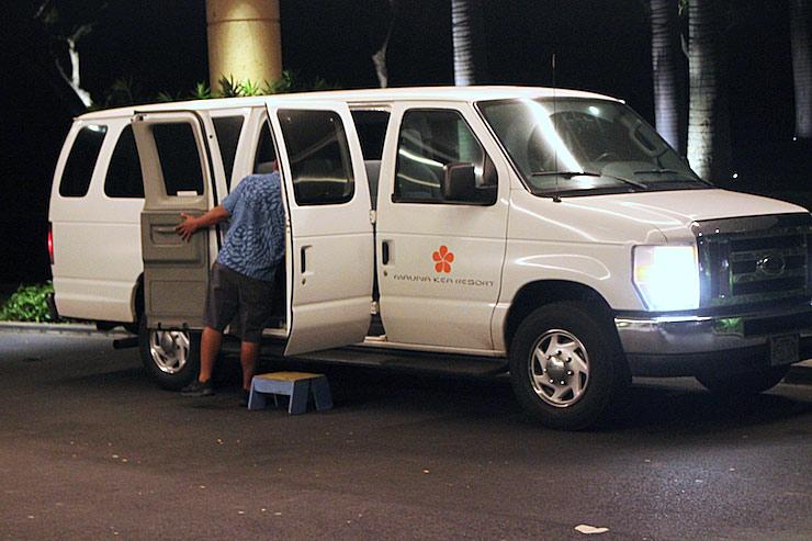 マウナ ケア ビーチ リゾートの無料シャトルバス