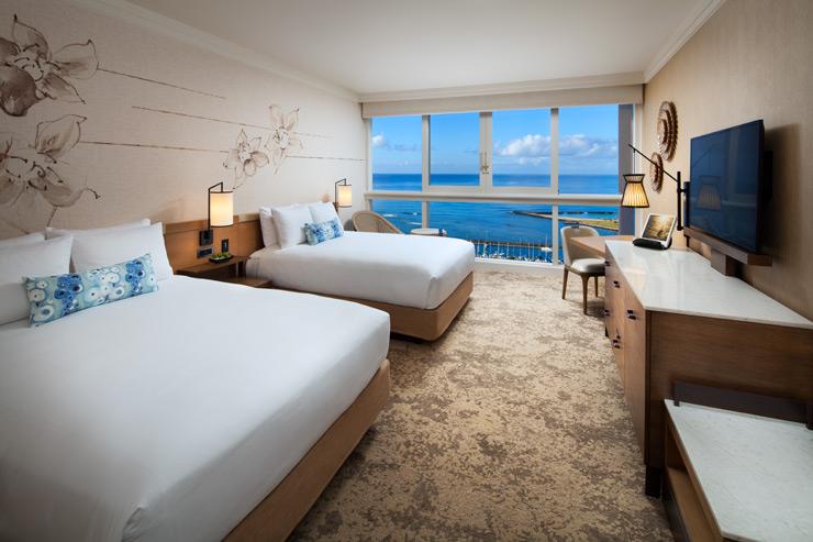 どのお部屋からも海が見える全室オーシャンビュー