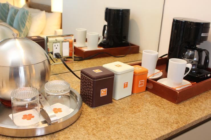 容器もかわいいコーヒー、紅茶