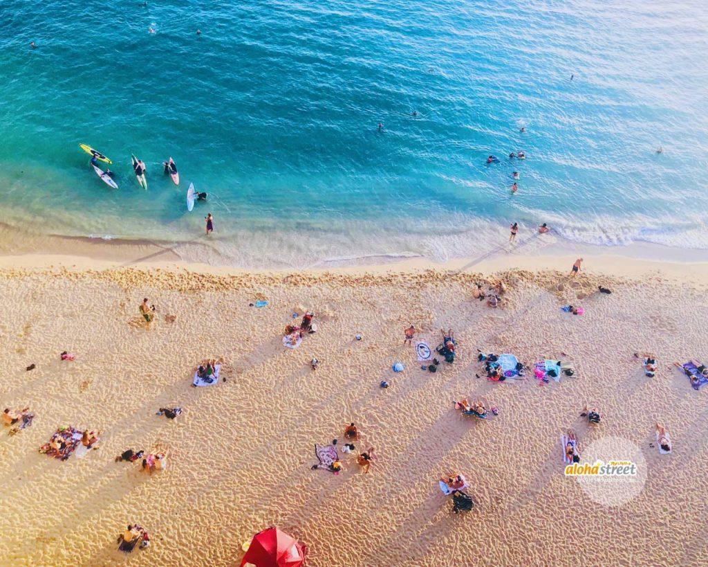 上から見るカイマナビーチ