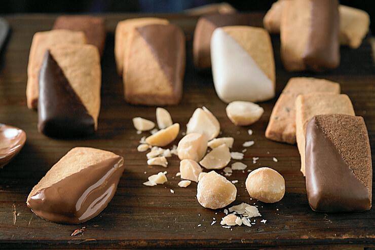 マカダミアナッツやコナコーヒーなどハワイ産の素材を使ったショートブレッドクッキー