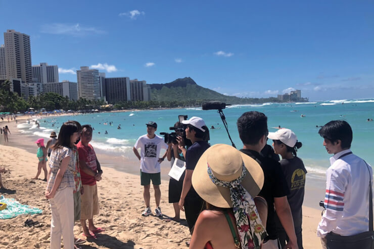 モヤさまハワイでビーチ撮影