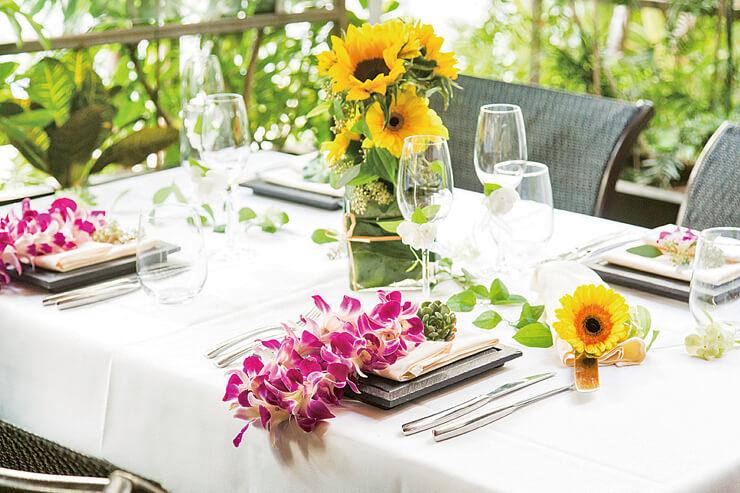 タオルミーナ・シチリアン・キュイジーのテーブルコーディネート