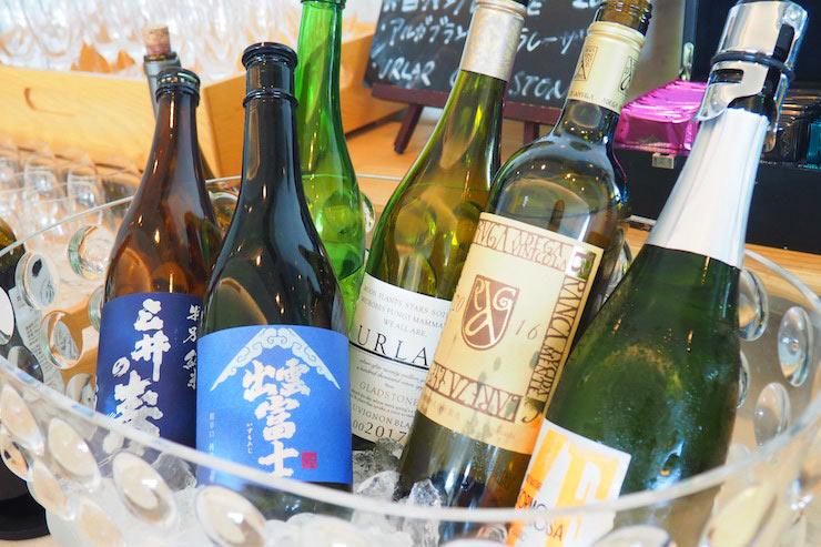季節のワインコレクション、日本酒など
