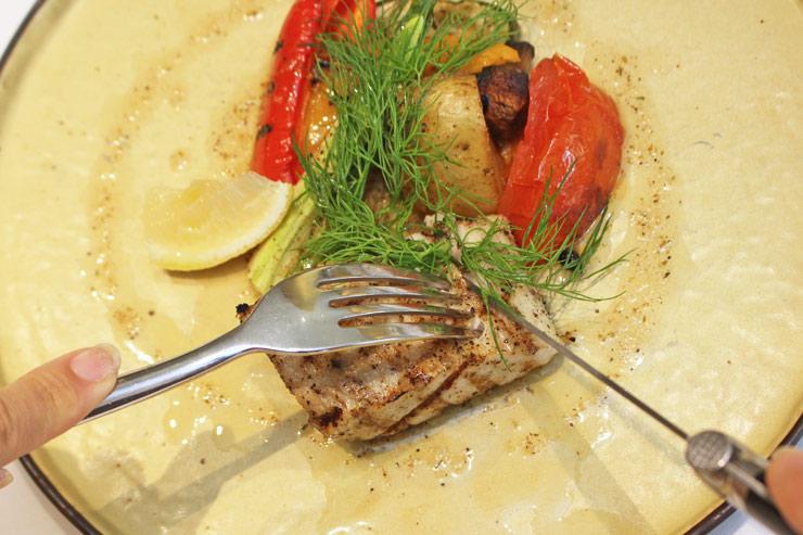 タオルミーナのコース料理、モンチョンの炭火焼き