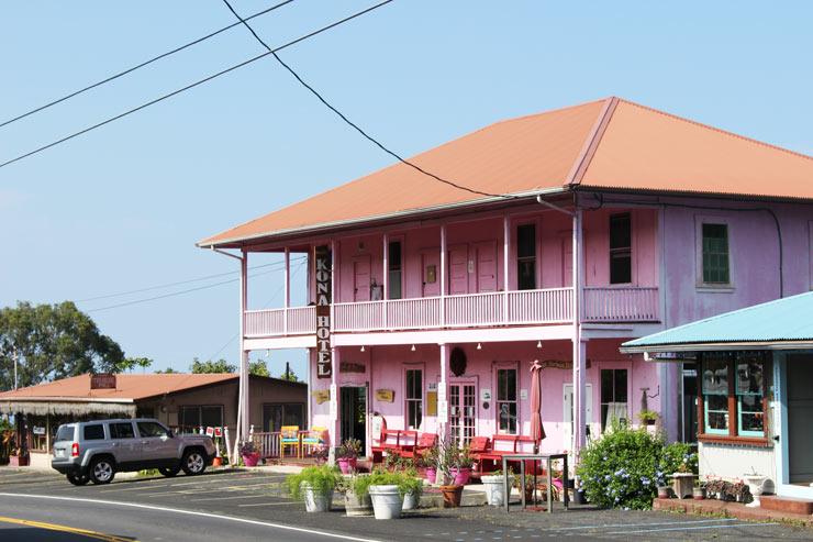 ハワイ島のコナの街並み