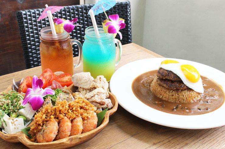 ハワイのアロハレーブルのロコモコとテイスト・オブ・アロハ