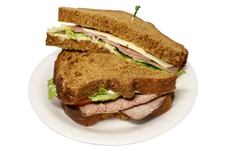 ハワイのパラダイスカフェのサンドイッチ