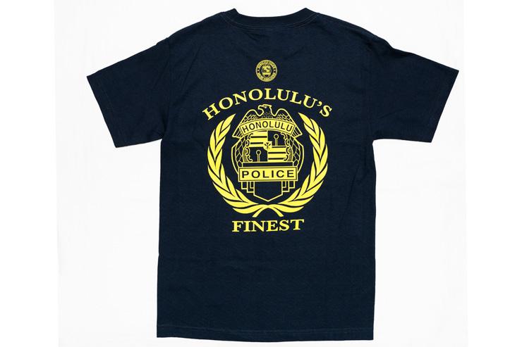 ホノルル警察の紋章やALOHAのロゴをあしらったTシャツ($25〜)は、滞在中に着用するのはもちろん、おみやげにも! キャップなども見逃せない