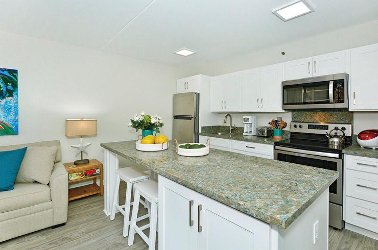 カウンターや家電も設置されたフルキッチン