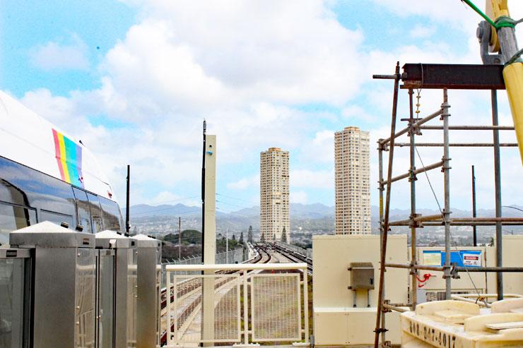 ハワイの電車 線路