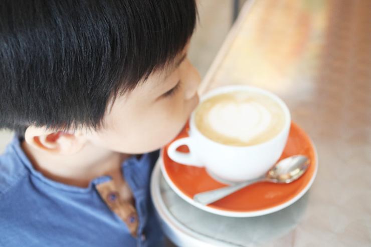 ハワイのダウンタウン・コーヒーのカフェラテ