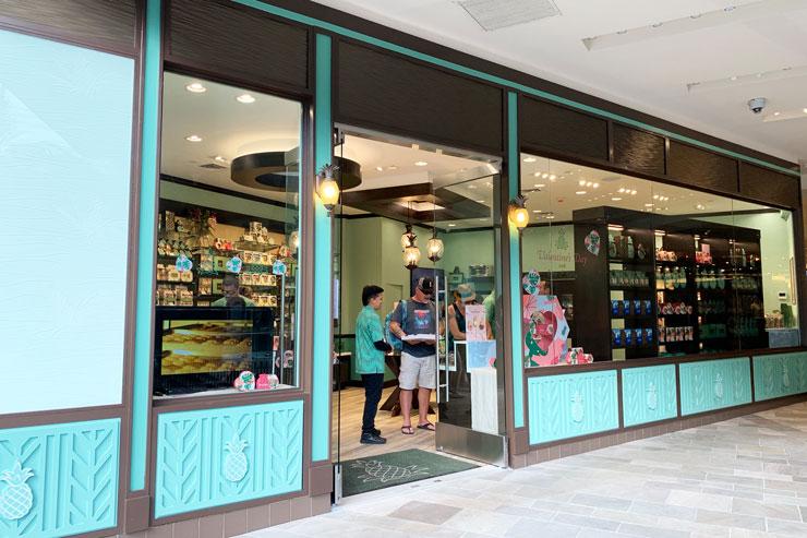 ハワイのワイキキ・ショッピングプラザのホノルル・クッキー・カンパニーの外観