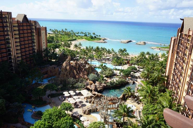 ハワイのアウラニ・ディズニー・リゾートの外観