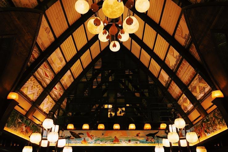ハワイのアウラニ・ディズニー・リゾートの内観