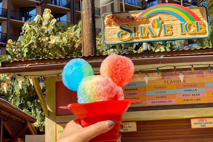 ハワイのアウラニ・ディズニー・リゾートのシェイブアイス