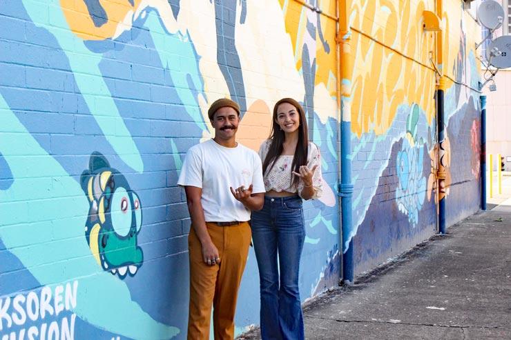 カカアコの壁画に注目!ノースショア出身のアーティスト