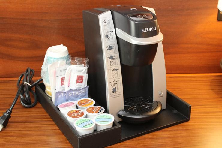 コーヒーメーカーでは3種類のコーヒーが楽しめます
