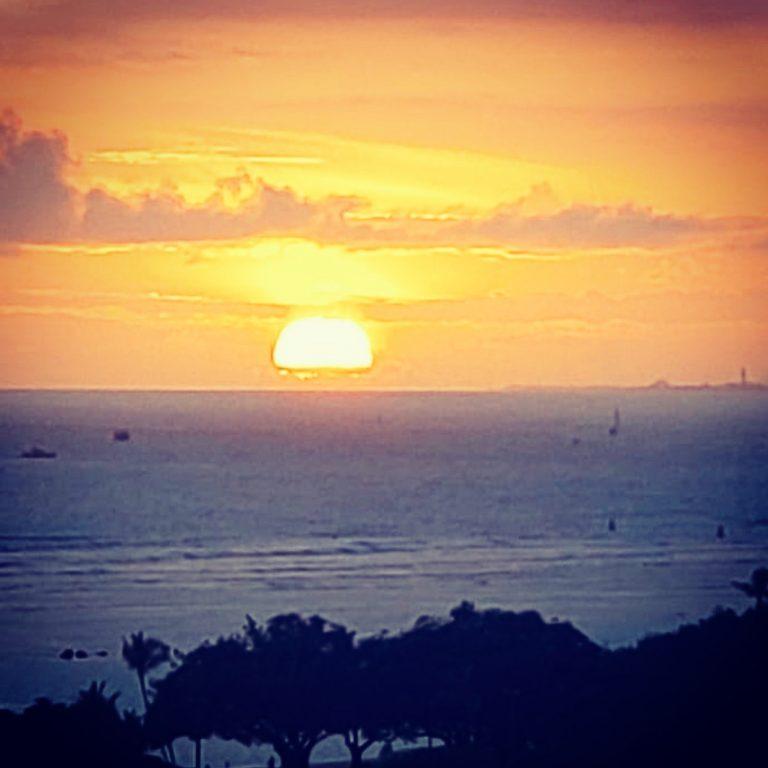夕陽が綺麗です。☀️✨