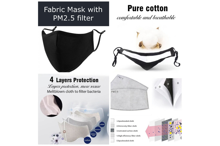 PM2.5フィルター付きマスク