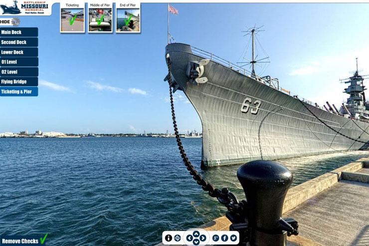 家にいながら戦艦ミズーリ記念館をバーチャル訪問