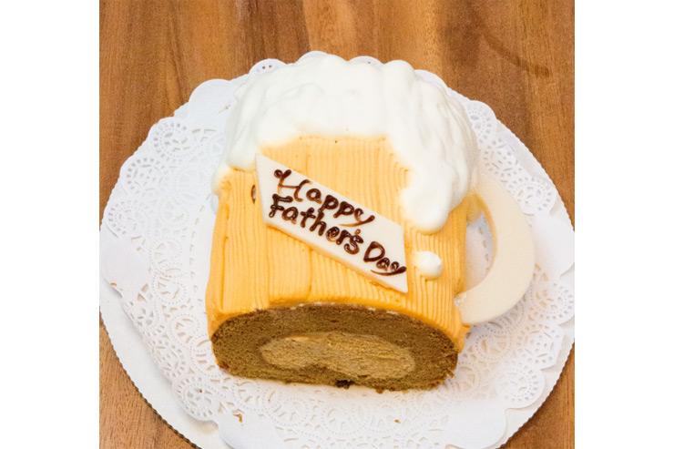 父の日にぴったり!ユニークなビール風ロールケーキ