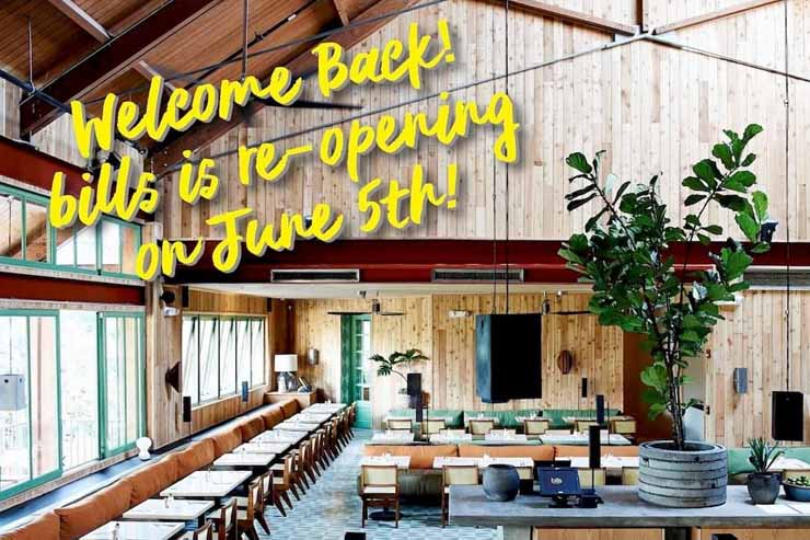ビルズ ワイキキが6月5日から営業再開!