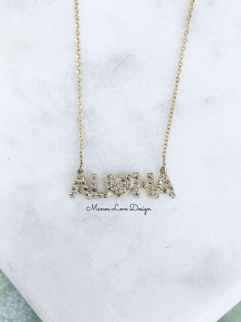 ALOHAダイヤモンドネックレス