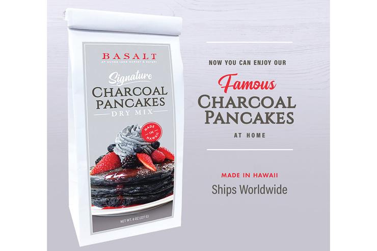 ハワイのバサルト チャコールパンケーキミックス