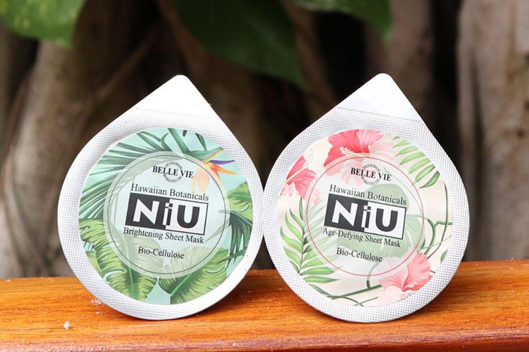 ベルヴィーハワイの「NIU・ニウ」バイオセルロースマスク(1個入り)