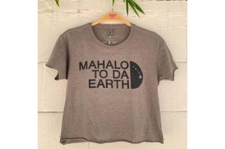 ハワイのパイナップルカウンティ クロップドTシャツ