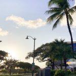夕暮れ時のハワイの空