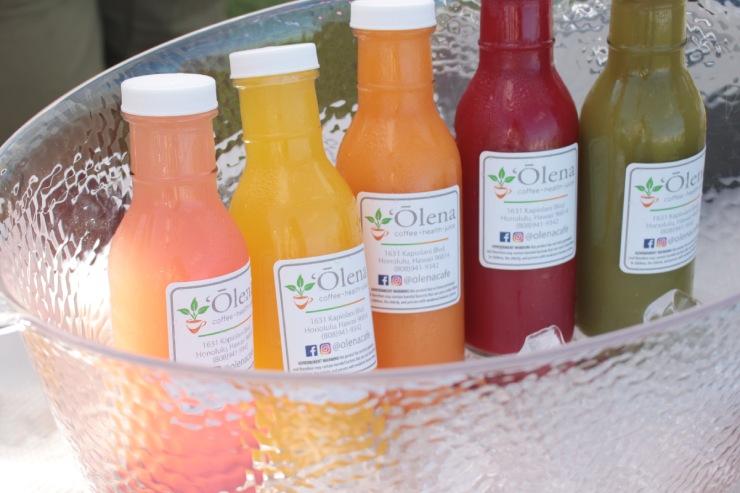 ハワイ産オーガニックの野菜やフルーツを使ったコールドプレスジュース