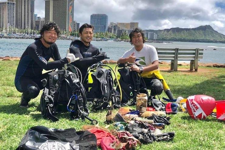 ハワイの海をきれいに!日本から清掃作業をサポート