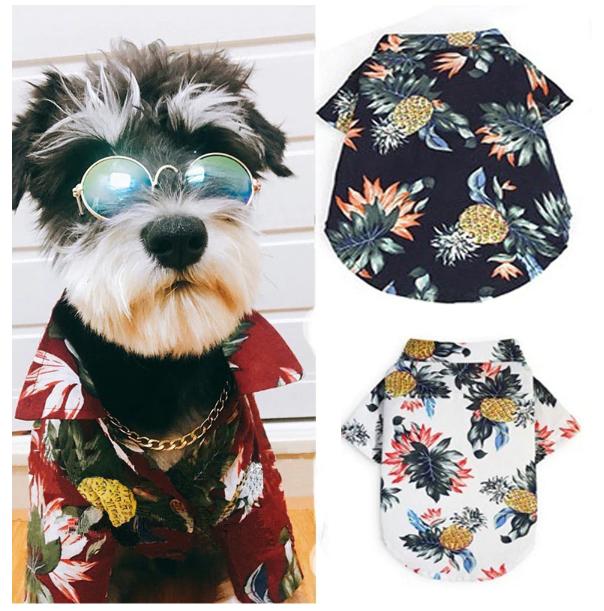 ハワイアンなペット用のアロハシャツ
