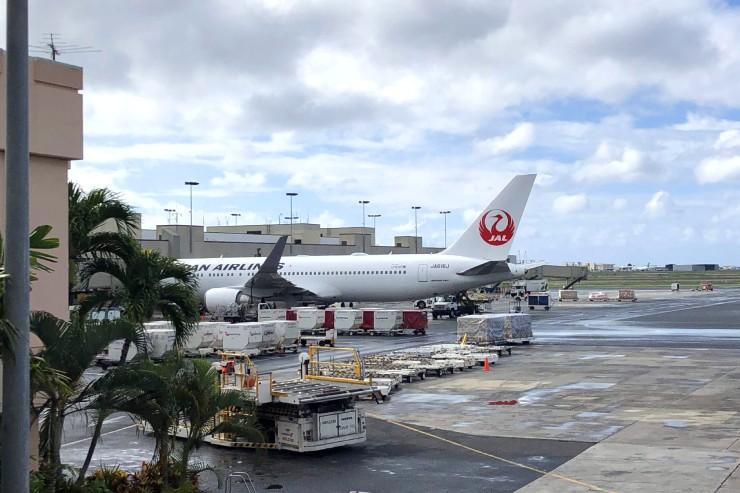 日本-ハワイ間の飛行時間