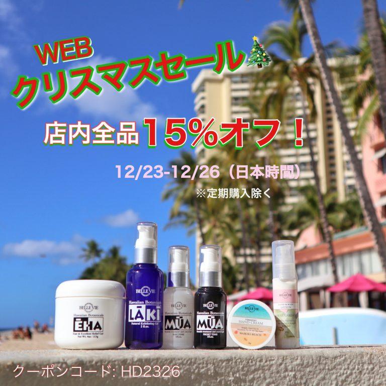 ☆WEB☆クリスマスセールのお知らせ!