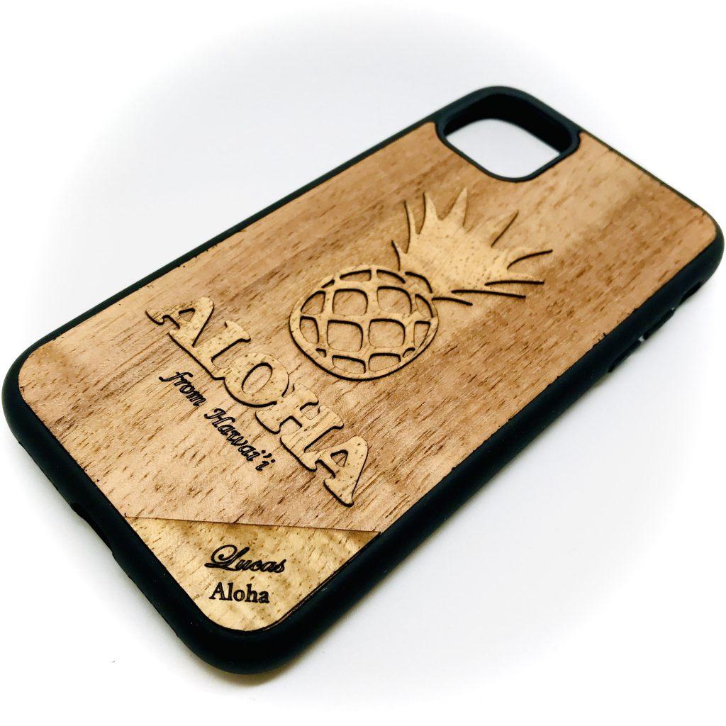 名入れの出来るKoa Wood IPhone Case