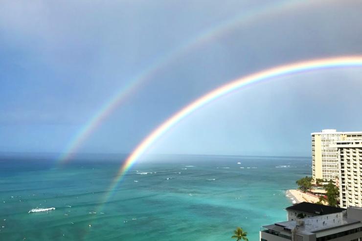 心癒やされるハワイの虹!編集部が感動した虹の風景