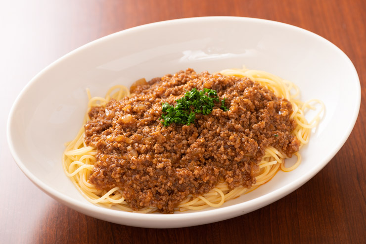 洋食銀座梅林オリジナルスパゲッティミートソース:$23