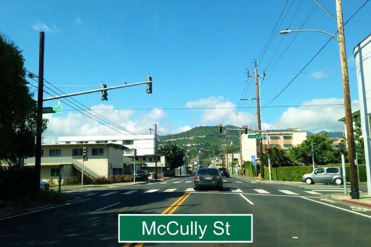 アラワイ通りからマッカリー通りへ