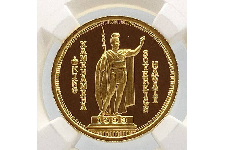 カメハメハ大王が描かれたコイン
