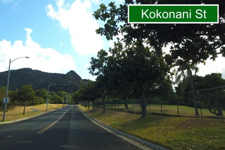 ケアラホウ通りからココナニ通りへ