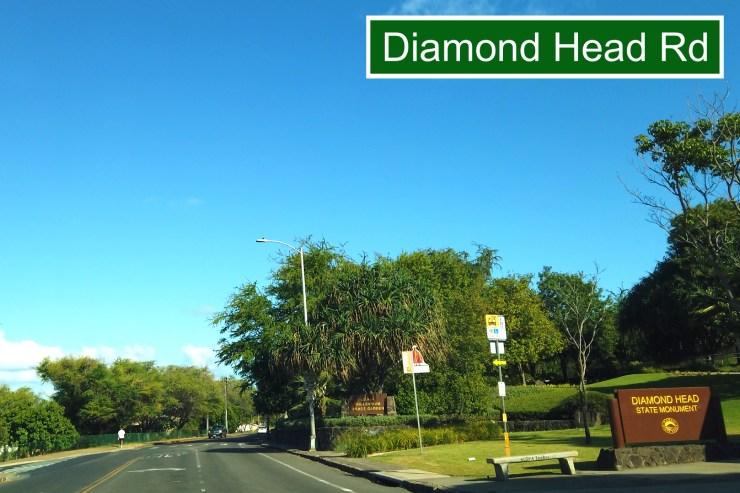 モンサラット通りからダイアモンドヘッド・ロードへ
