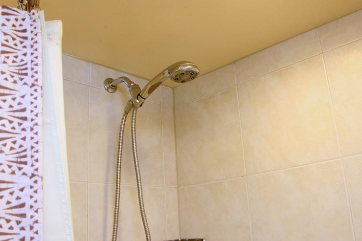 可動式のシャワーヘッド