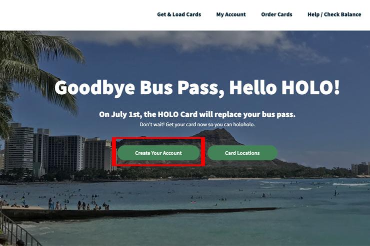 ハワイ ホロカード オンラインアカウントの作り方