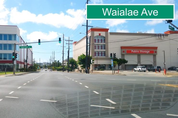 カパフル通りからワイアラエ通りへ